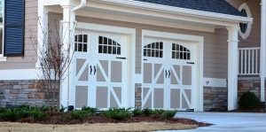 Beautiful new garage doors installed & repaired in Myrtle Beach by Carefree Exteriors.